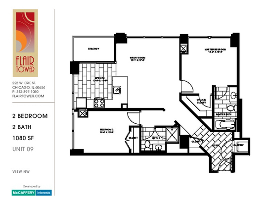 2 Bedrooms 2 Bathrooms Apartment for rent at 222 West Erie Street in Chicago, IL