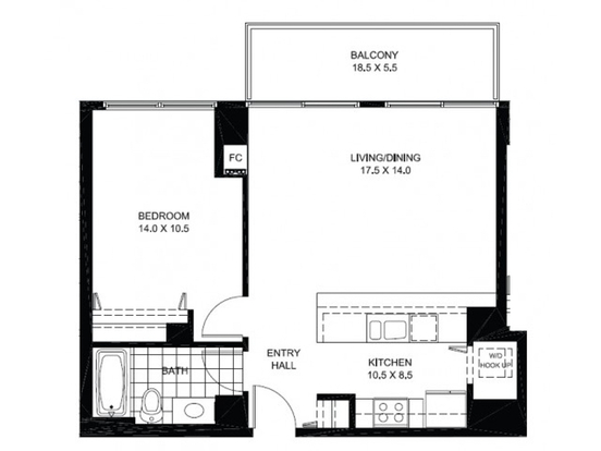 1 Bedroom 1 Bathroom Apartment for rent at 925 West Huron Street in Chicago, IL