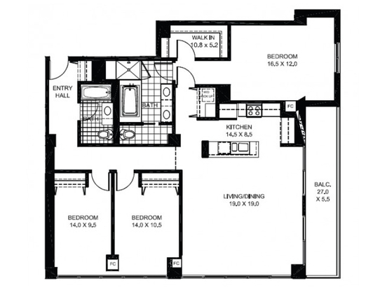 3 Bedrooms 3 Bathrooms Apartment for rent at 925 West Huron Street in Chicago, IL