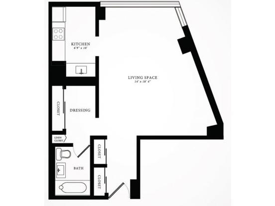 Studio 1 Bathroom Apartment for rent at 1350 North Lake Shore Drive in Chicago, IL