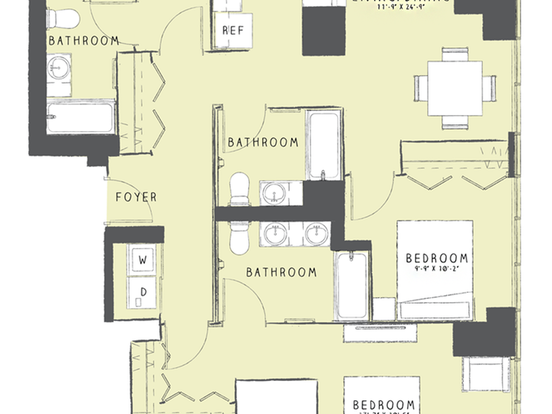 3 Bedrooms 3 Bathrooms Apartment for rent at 165 West Superior Street in Chicago, IL