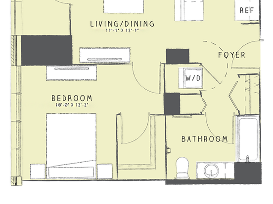 1 Bedroom 1 Bathroom Apartment for rent at 165 West Superior Street in Chicago, IL