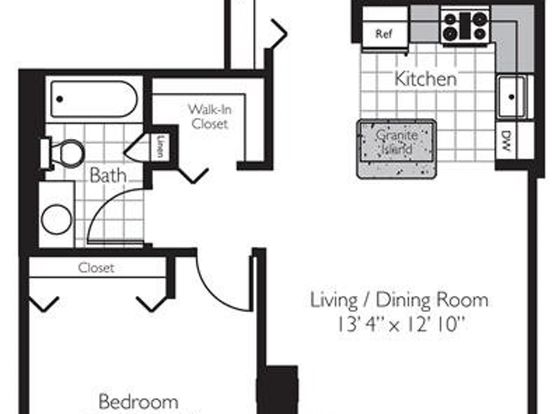 1 Bedroom 1 Bathroom Apartment for rent at 400 East South Water Street in Chicago, IL
