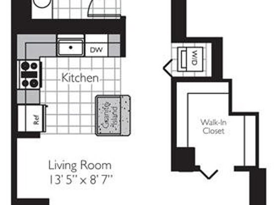 Studio 1 Bathroom Apartment for rent at 400 East South Water Street in Chicago, IL