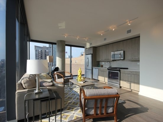 2 Bedrooms 2 Bathrooms Apartment for rent at The Parker Fulton Market in Chicago, IL