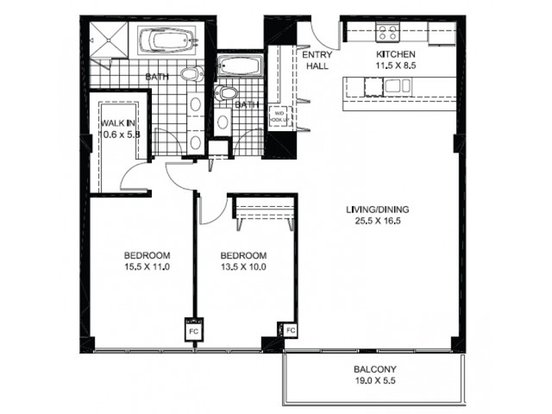 2 Bedrooms 2 Bathrooms Apartment for rent at 925 West Huron Street in Chicago, IL