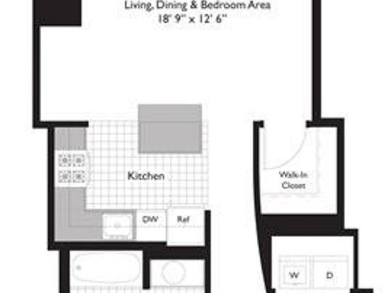 Studio 1 Bathroom Apartment for rent at 221 North Columbus Drive in Chicago, IL