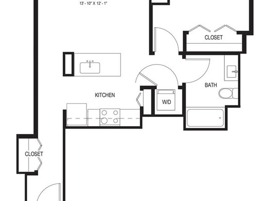1 Bedroom 1 Bathroom Apartment for rent at Wolf Point West in Chicago, IL