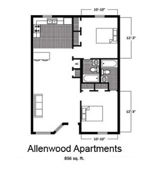 2 Bedrooms 2 Bathrooms Apartment for rent at Allenwood Apartments in Auburn, AL