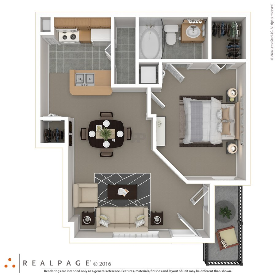 1 Bedroom 1 Bathroom Apartment for rent at Springs At Bandera in San Antonio, TX