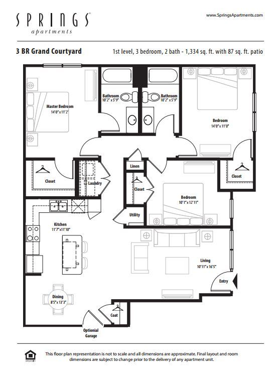3 Bedrooms 2 Bathrooms Apartment for rent at Springs At Creekside in New Braunfels, TX