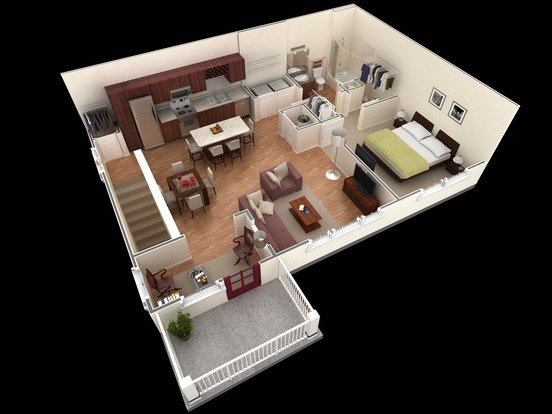 1 Bedroom 1 Bathroom Apartment for rent at Springs At University Drive Apartments in Bryan, TX