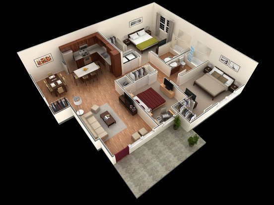 3 Bedrooms 2 Bathrooms Apartment for rent at Springs At University Drive Apartments in Bryan, TX