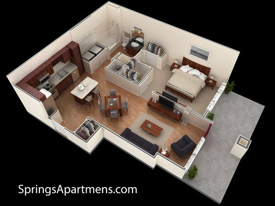 1 Bedroom 1 Bathroom Apartment for rent at Springs At Liberty Township in Liberty Township, OH