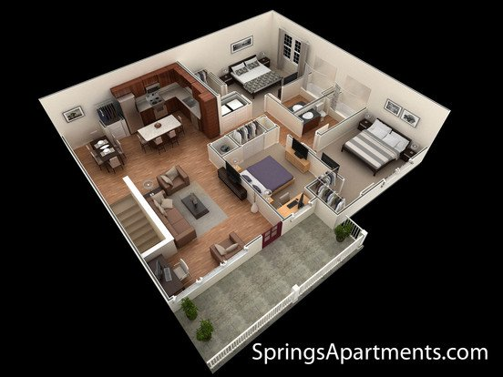 3 Bedrooms 2 Bathrooms Apartment for rent at Springs At Liberty Township in Liberty Township, OH