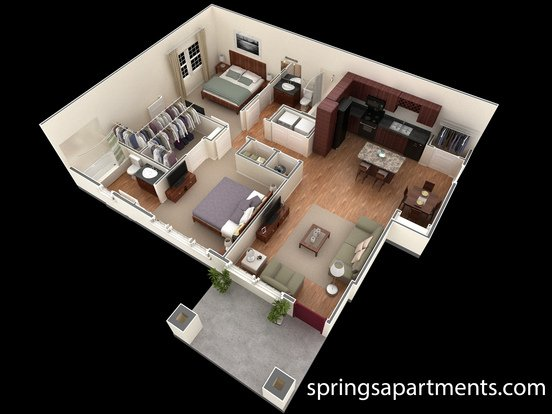 2 Bedrooms 2 Bathrooms Apartment for rent at Springs At Liberty Township in Liberty Township, OH