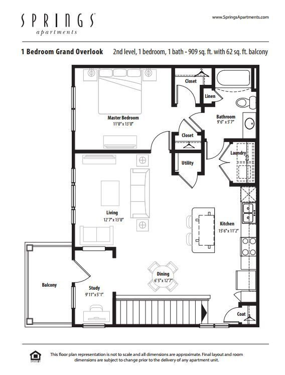 1 Bedroom 1 Bathroom Apartment for rent at Springs At Creekside in New Braunfels, TX