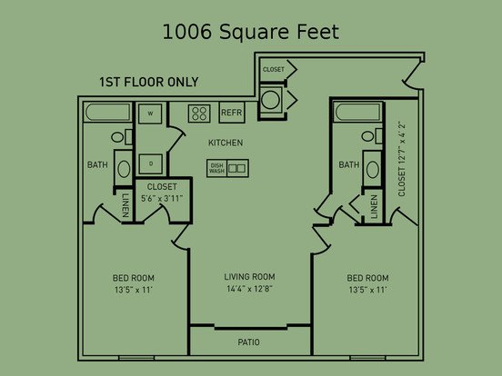 2 Bedrooms 2 Bathrooms Apartment for rent at The Fairway in West Lafayette, IN