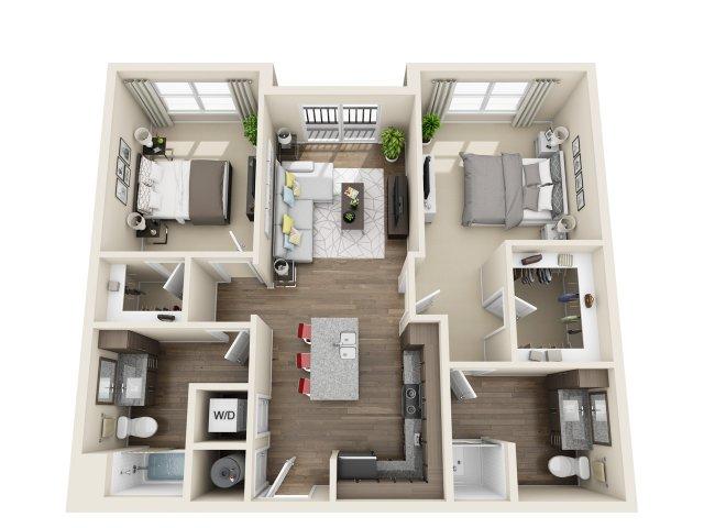 2 Bedrooms 2 Bathrooms Apartment for rent at The Edison Lofts in Raleigh, NC