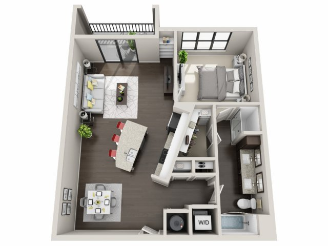 1 Bedroom 1 Bathroom Apartment for rent at The Edison Lofts in Raleigh, NC