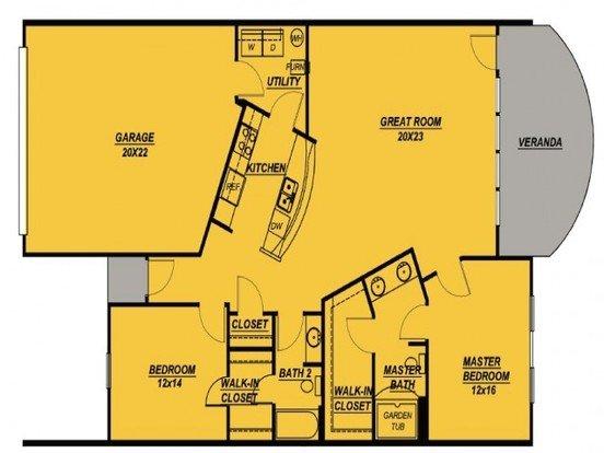2 Bedrooms 2 Bathrooms Apartment for rent at Cobblestone Crossings in Terre Haute, IN