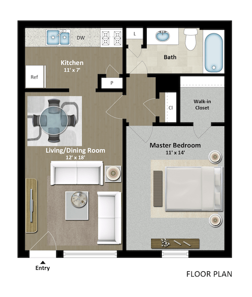 1 Bedroom 1 Bathroom Apartment for rent at The Grand 1501 in College Station, TX