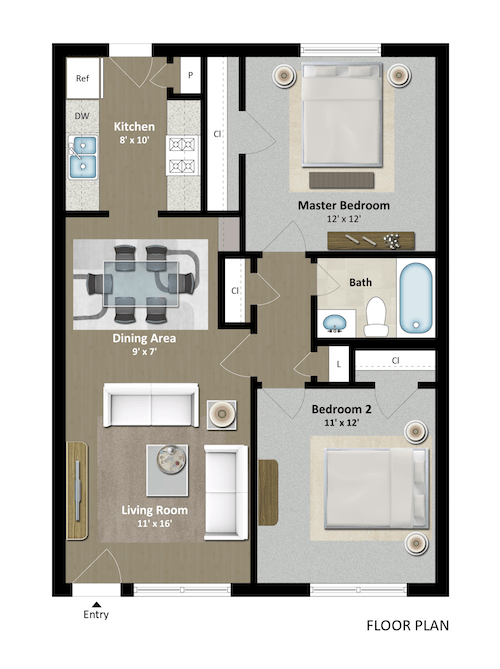 2 Bedrooms 1 Bathroom Apartment for rent at The Grand 1501 in College Station, TX