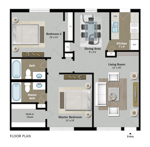 2 Bedrooms 2 Bathrooms Apartment for rent at The Grand 1501 in College Station, TX