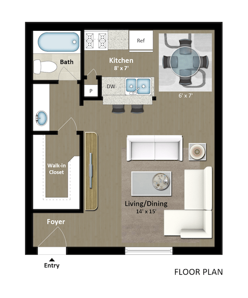 Studio 1 Bathroom Apartment for rent at The Grand 1501 in College Station, TX