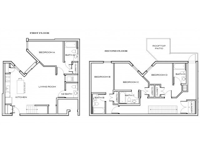 4 Bedrooms 4+ Bathrooms Apartment for rent at The Standard At Knoxville in Knoxville, TN