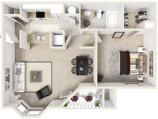 Studio 1 Bathroom Apartment for rent at 1700 Forum Boulevard in Columbia, MO