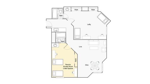 1 Bedroom 1 Bathroom Apartment for rent at Dobie Twenty21 in Austin, TX