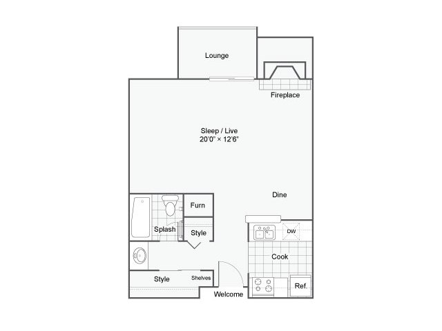 Studio 1 Bathroom Apartment for rent at The Helix Apartment Homes in Glendale, CO