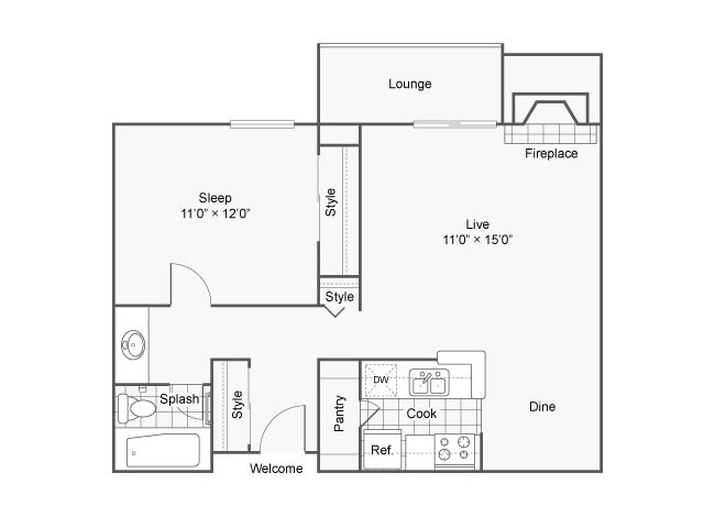 1 Bedroom 1 Bathroom Apartment for rent at The Helix Apartment Homes in Glendale, CO