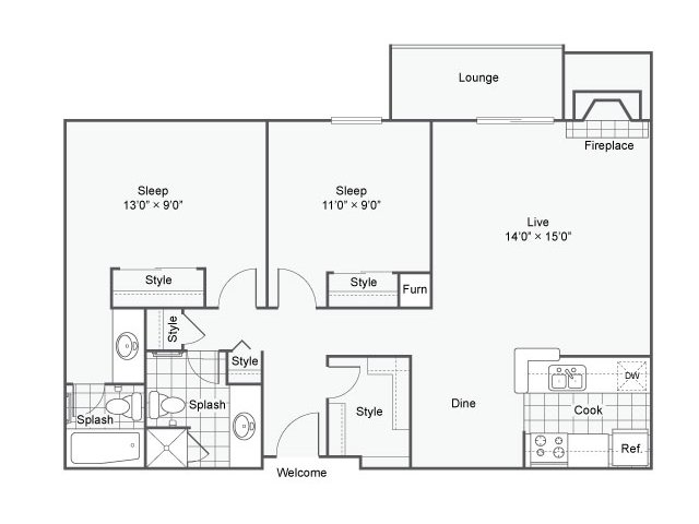2 Bedrooms 1 Bathroom Apartment for rent at The Helix Apartment Homes in Glendale, CO