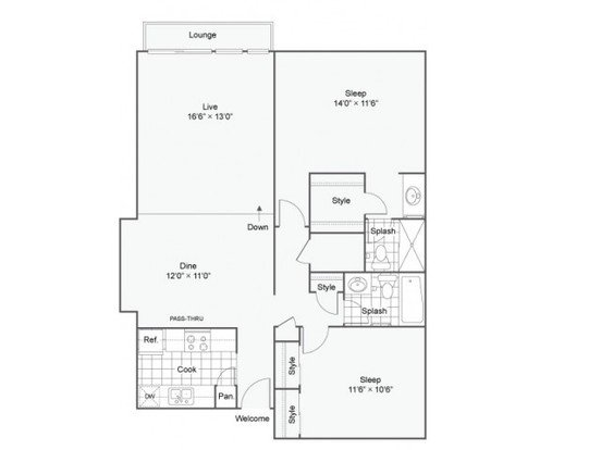 2 Bedrooms 2 Bathrooms Apartment for rent at The Arlington Apartment Homes in Crave Couer, MO