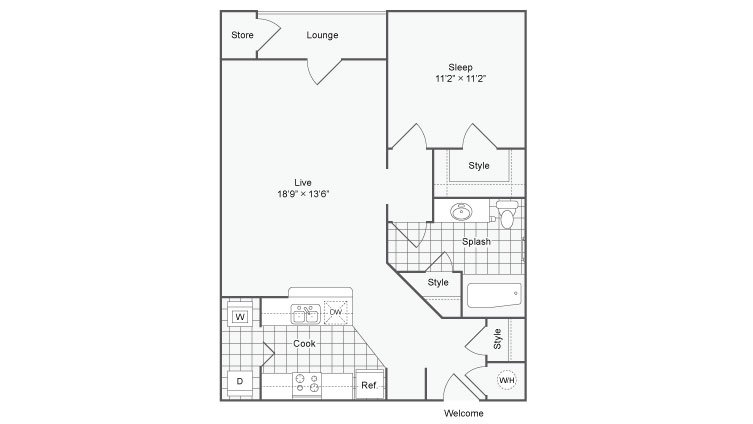 1 Bedroom 1 Bathroom Apartment for rent at The Station On Peachtree in Chamblee, GA