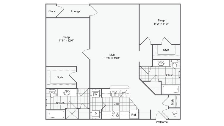 2 Bedrooms 2 Bathrooms Apartment for rent at The Station On Peachtree in Chamblee, GA