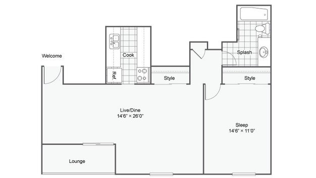 1 Bedroom 1 Bathroom Apartment for rent at The Magnolia Apartment Homes in Chesterfield, MO