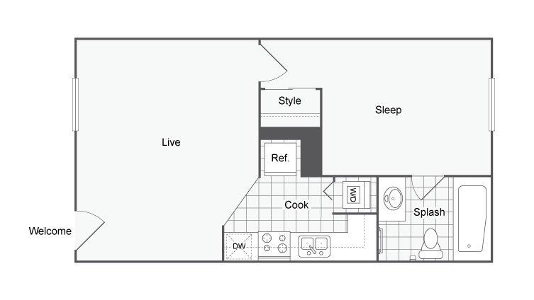 1 Bedroom 1 Bathroom Apartment for rent at U Lake Apartments in Tampa, FL
