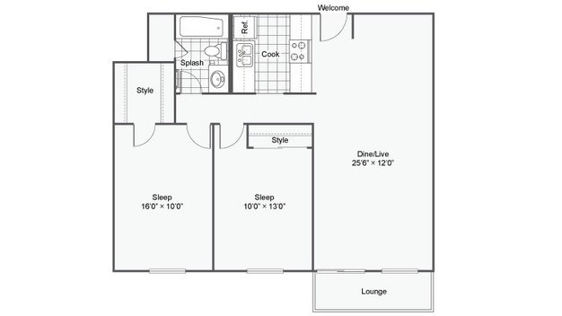 2 Bedrooms 1 Bathroom Apartment for rent at The Magnolia Apartment Homes in Chesterfield, MO