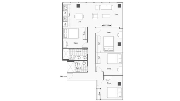 4 Bedrooms 2 Bathrooms Apartment for rent at Icon Student Spaces in St Louis, MO