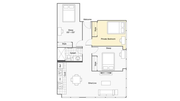 3 Bedrooms 1 Bathroom Apartment for rent at Icon Student Spaces in St Louis, MO