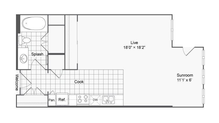 Studio 1 Bathroom Apartment for rent at Encore @ Clairmont in Atlanta, GA