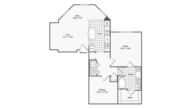 1 Bedroom 1 Bathroom Apartment for rent at Encore @ Clairmont in Atlanta, GA