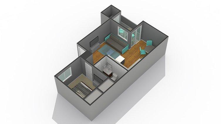 1 Bedroom 1 Bathroom Apartment for rent at Zen Senior Living in Phoenix, AZ