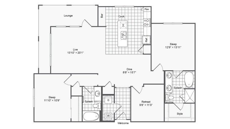 2 Bedrooms 2 Bathrooms Apartment for rent at Encore @ Clairmont in Atlanta, GA