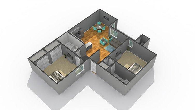 2 Bedrooms 2 Bathrooms Apartment for rent at Zen Senior Living in Phoenix, AZ