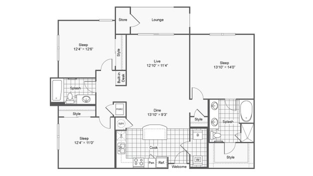 3 Bedrooms 2 Bathrooms Apartment for rent at Prelude @ Clairmont in Brookhaven, GA
