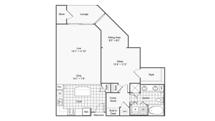 1 Bedroom 1 Bathroom Apartment for rent at Prelude @ Clairmont in Brookhaven, GA